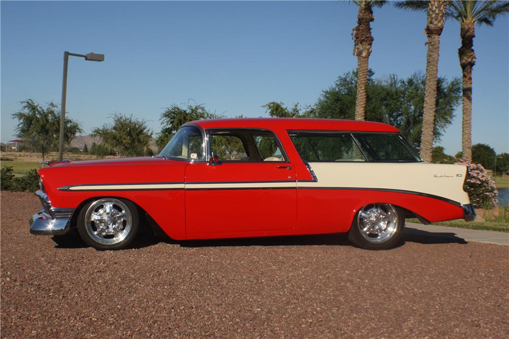 1956 CHEVROLET NOMAD CUSTOM WAGON - Side Profile - 180192