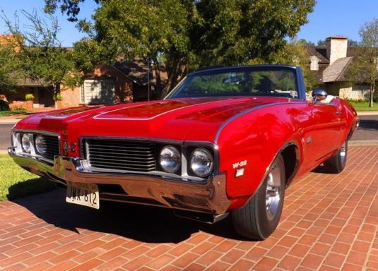 1969 OLDSMOBILE 442 CONVERTIBLE - Front 3/4 - 180193
