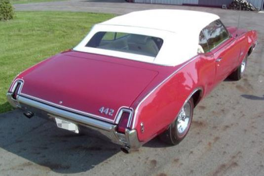 1969 OLDSMOBILE 442 CONVERTIBLE - Rear 3/4 - 180193