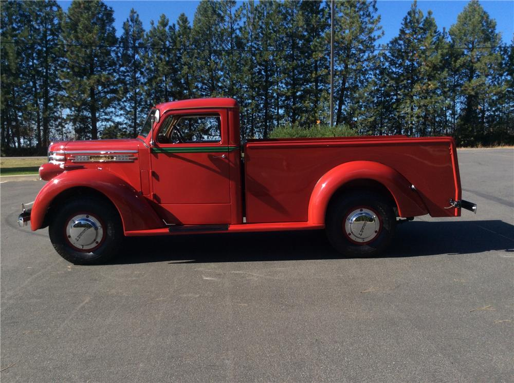 1941 DIAMOND T 201 PICKUP - Side Profile - 180194