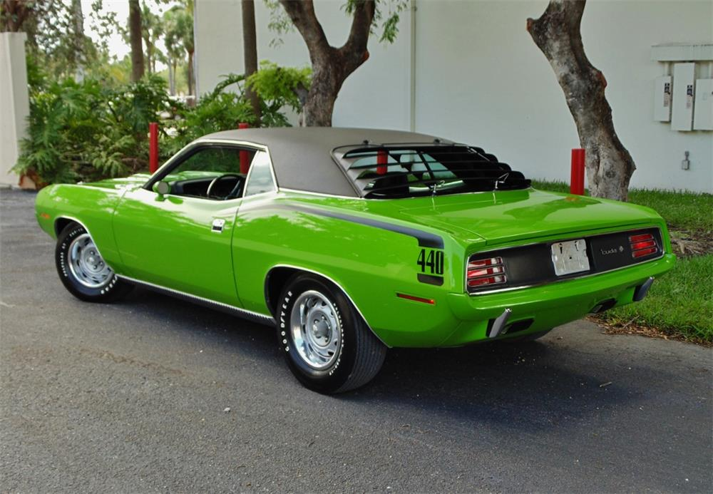 1970 PLYMOUTH 'CUDA - Rear 3/4 - 180197