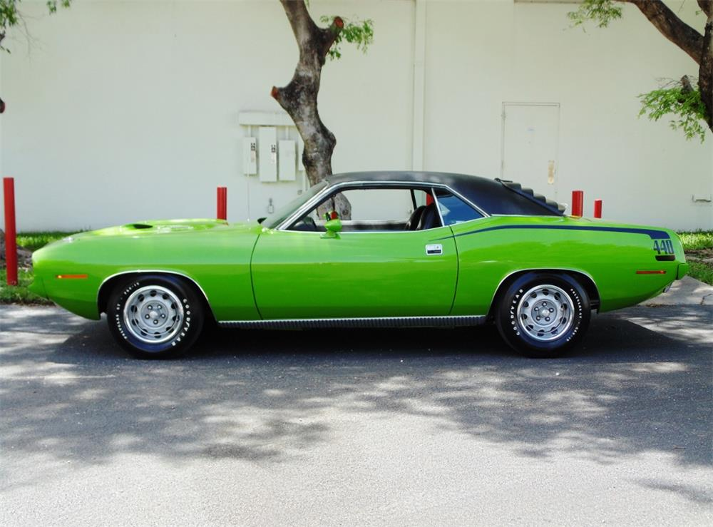 1970 PLYMOUTH 'CUDA - Side Profile - 180197