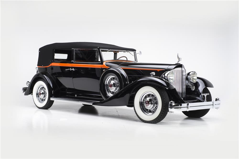 1933 PACKARD 1005 V12 SEDAN CONVERTIBLE - Front 3/4 - 180274