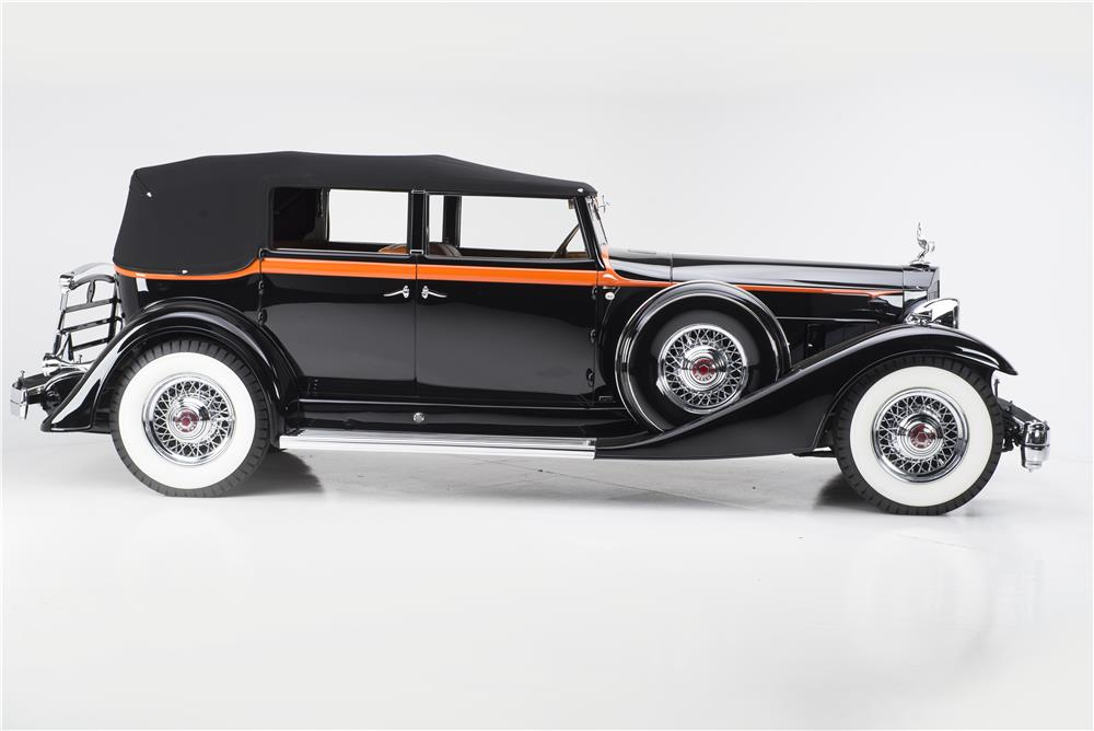 1933 PACKARD 1005 V12 SEDAN CONVERTIBLE - Side Profile - 180274