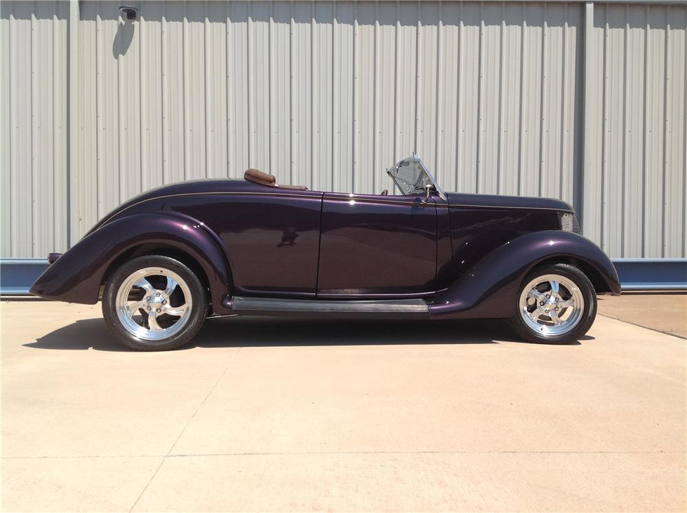 1936 FORD CUSTOM CONVERTIBLE - Side Profile - 180295