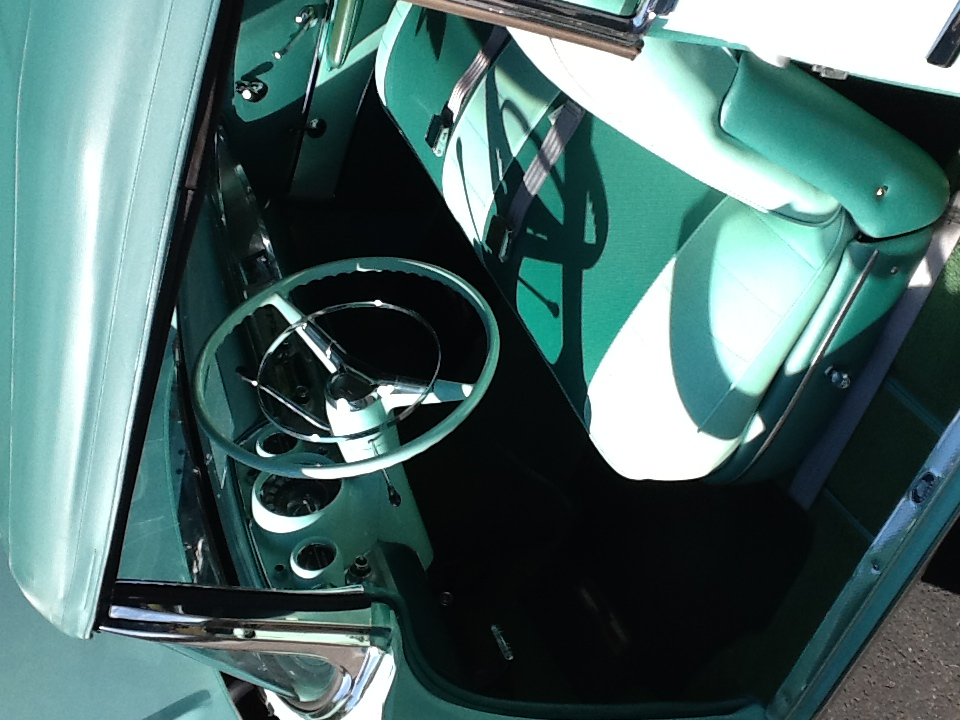 1957 CHEVROLET BEL AIR CONVERTIBLE - Interior - 180345