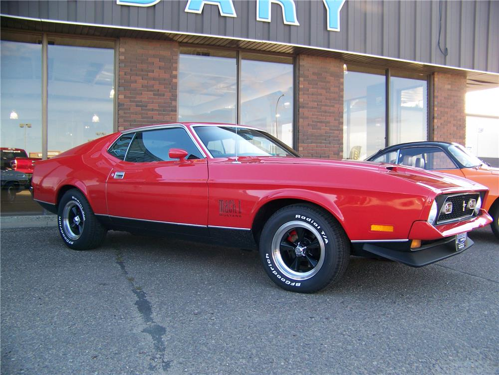 1971 ford mustang mach 1 fastback front 3 4 180376. Cars Review. Best American Auto & Cars Review