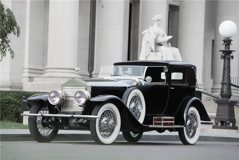 1925 ROLLS-ROYCE SPRINGFIELD SILVER GHOST RIVIERA TOWNCAR - Front 3/4 - 180434