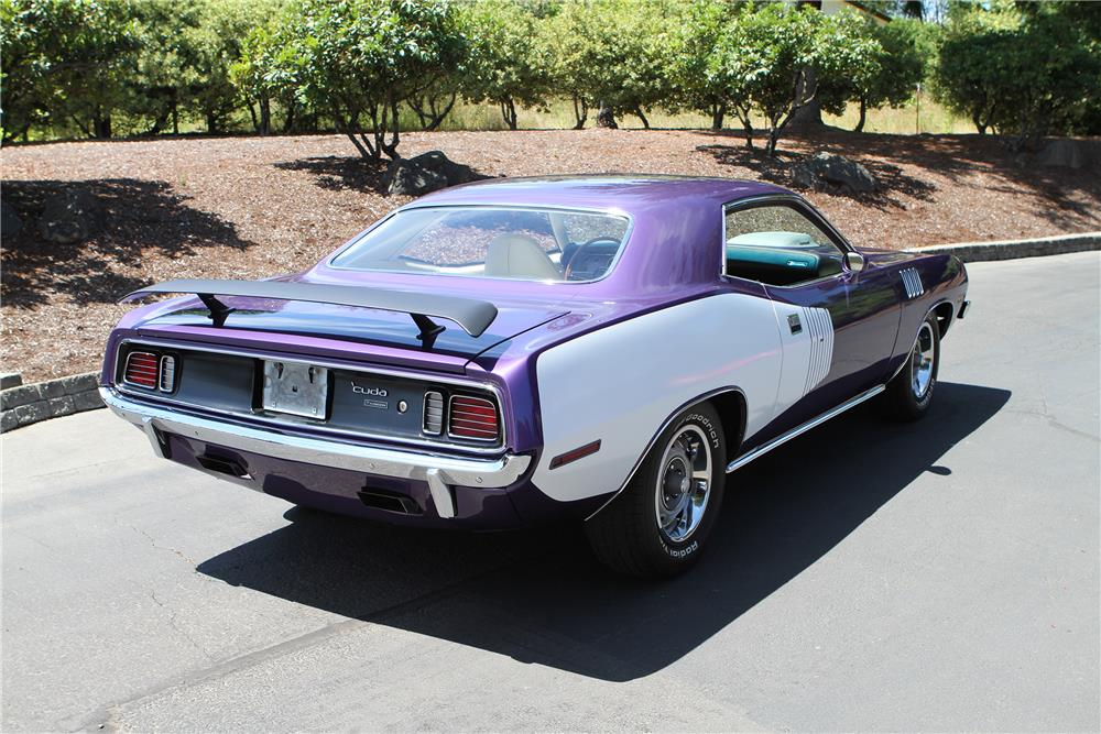 1971 PLYMOUTH BARRACUDA HEMI RE-CREATION - Rear 3/4 - 180482