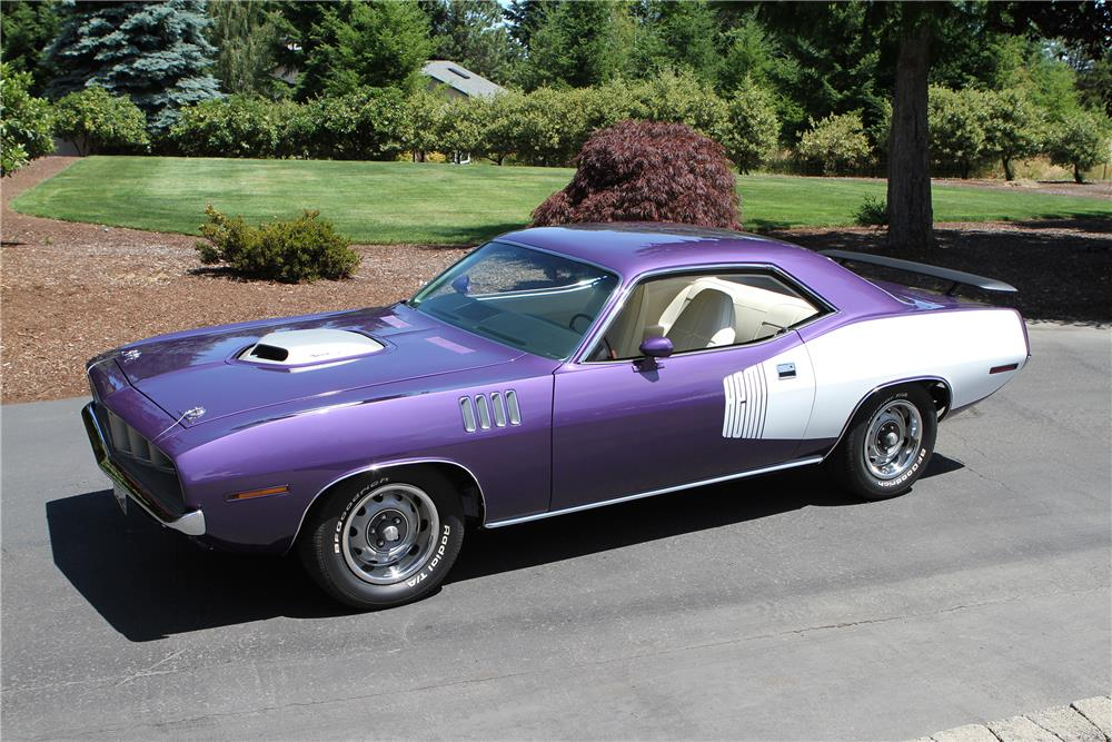 1971 PLYMOUTH BARRACUDA HEMI RE-CREATION - Side Profile - 180482
