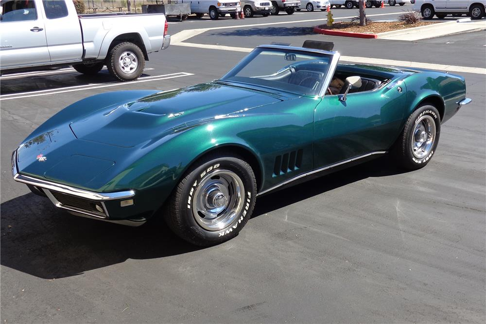 1968 CHEVROLET CORVETTE CONVERTIBLE - Front 3/4 - 180487