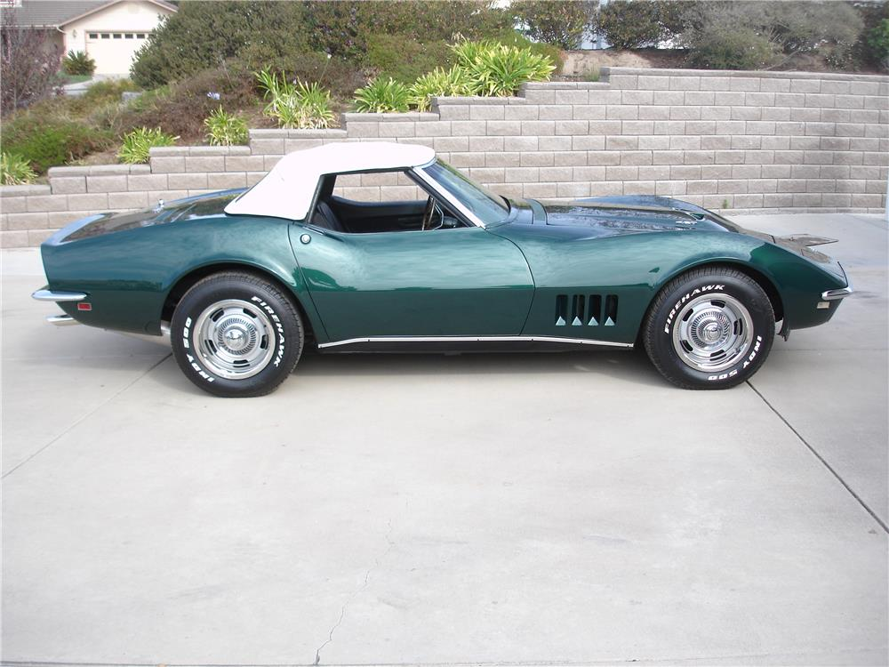 1968 CHEVROLET CORVETTE CONVERTIBLE - Side Profile - 180487