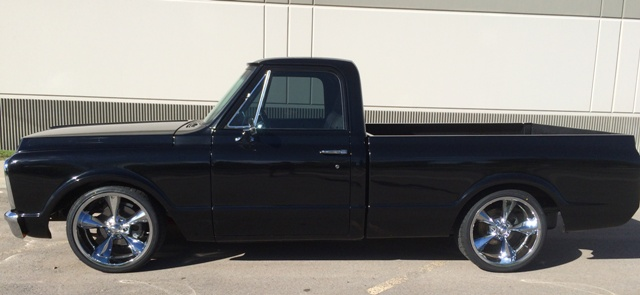 1972 CHEVROLET C-10 CUSTOM PICKUP - Side Profile - 180504
