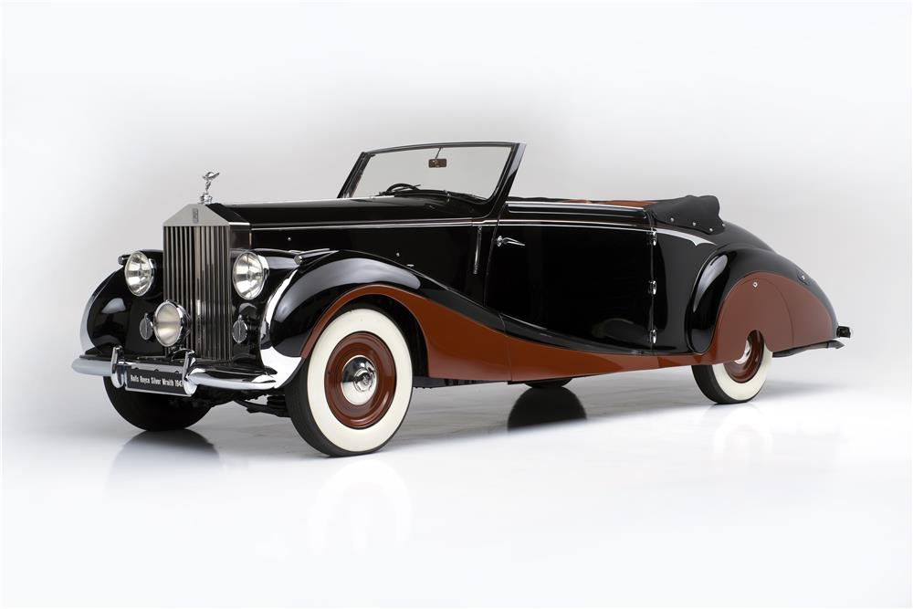 1947 ROLLS-ROYCE SILVER WRAITH CONVERTIBLE BY FRANAY - Front 3/4 - 180527