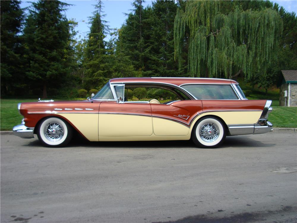1957 BUICK CENTURY CABALLERO ESTATE WAGON - Side Profile - 180613