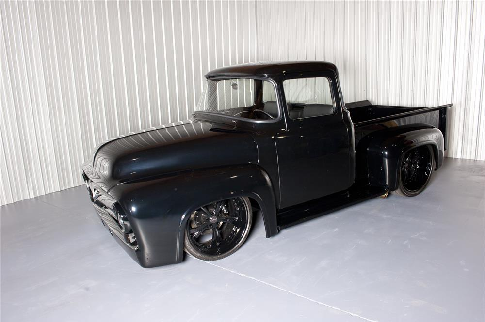 1956 FORD F-100 CUSTOM PICKUP - Front 3/4 - 180627