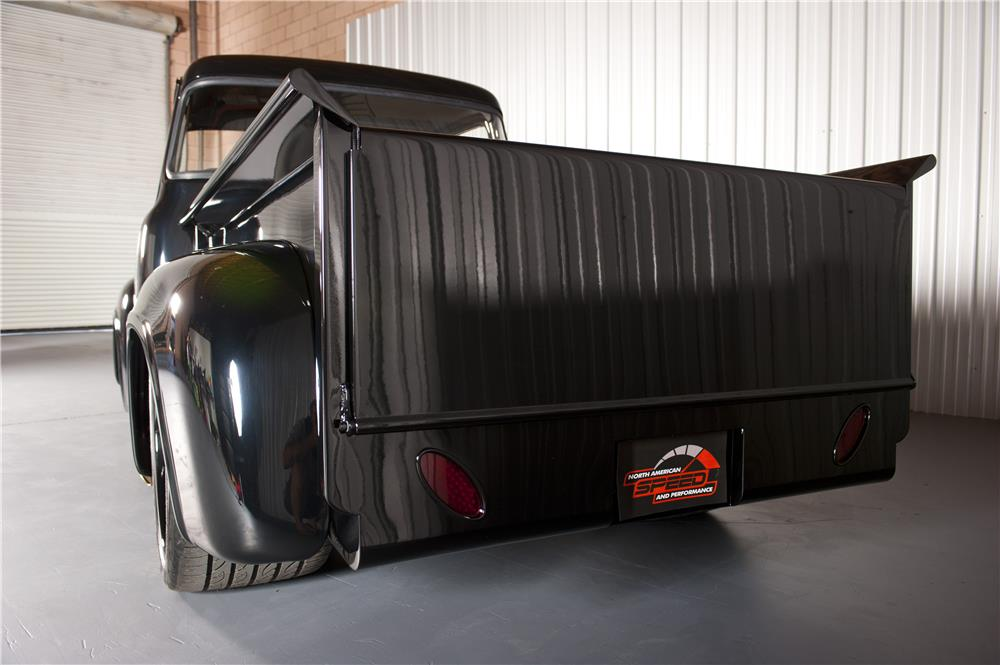 1956 FORD F-100 CUSTOM PICKUP - Rear 3/4 - 180627