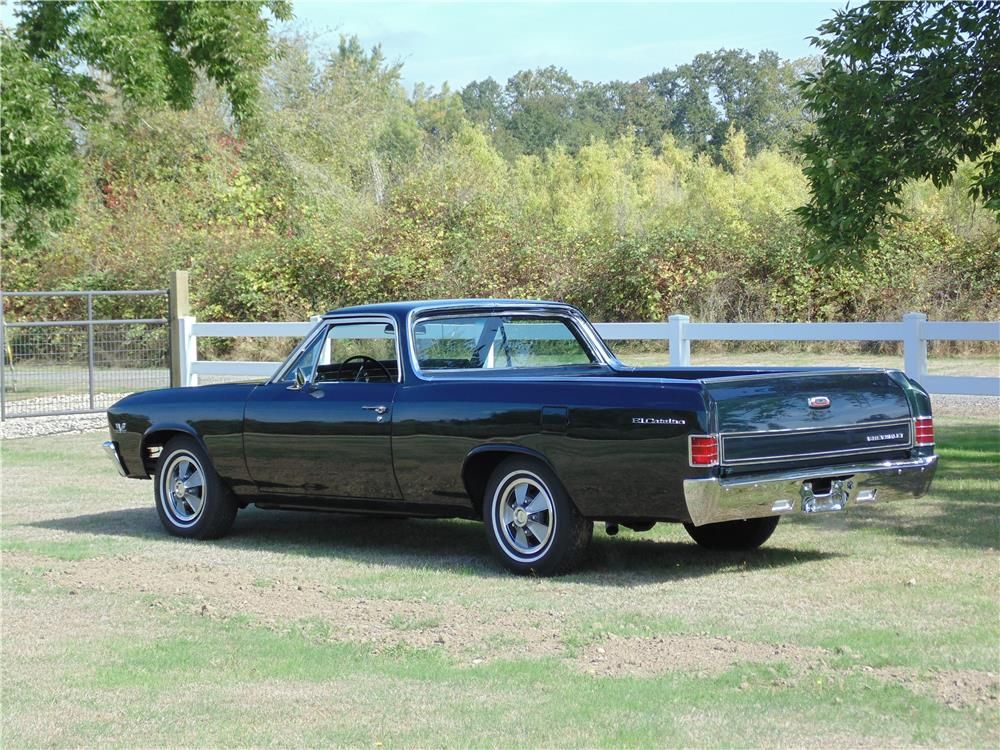 1967 CHEVROLET EL CAMINO SS PICKUP - Rear 3/4 - 180699