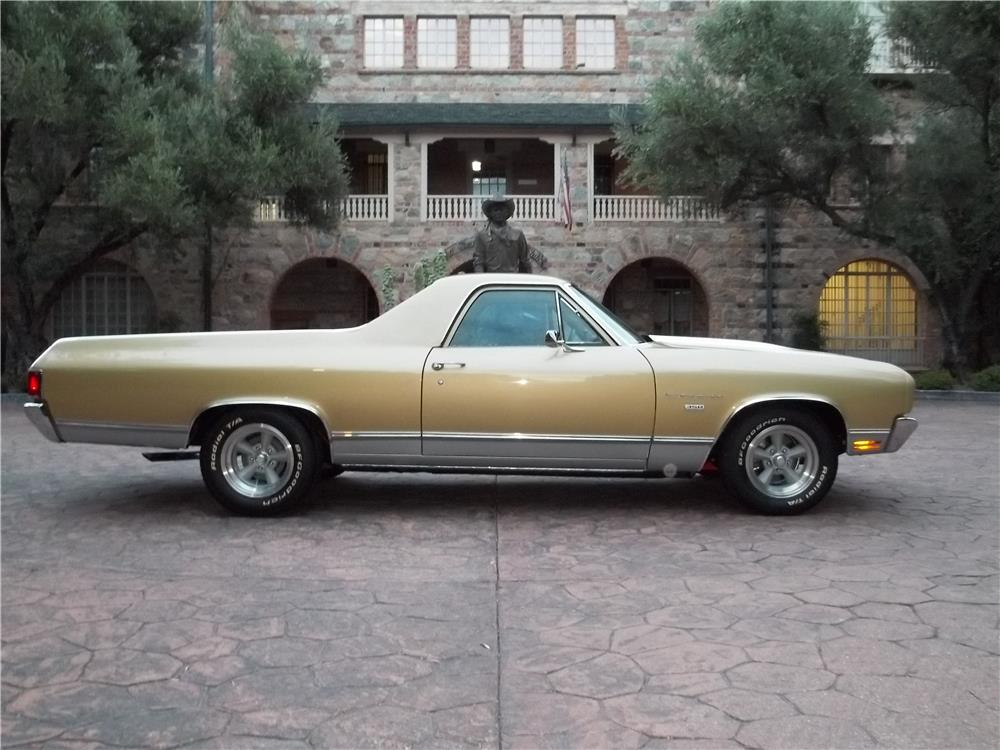 1970 CHEVROLET EL CAMINO PICKUP - Side Profile - 180700