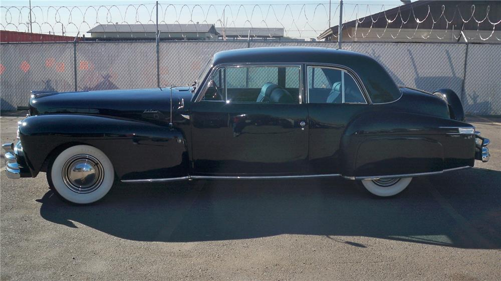 1948 LINCOLN CONTINENTAL 2 DOOR COUPE - Side Profile - 180701