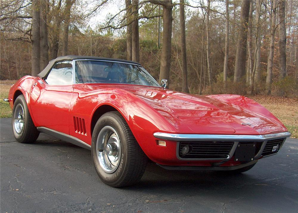1968 CHEVROLET CORVETTE CONVERTIBLE - Front 3/4 - 180708