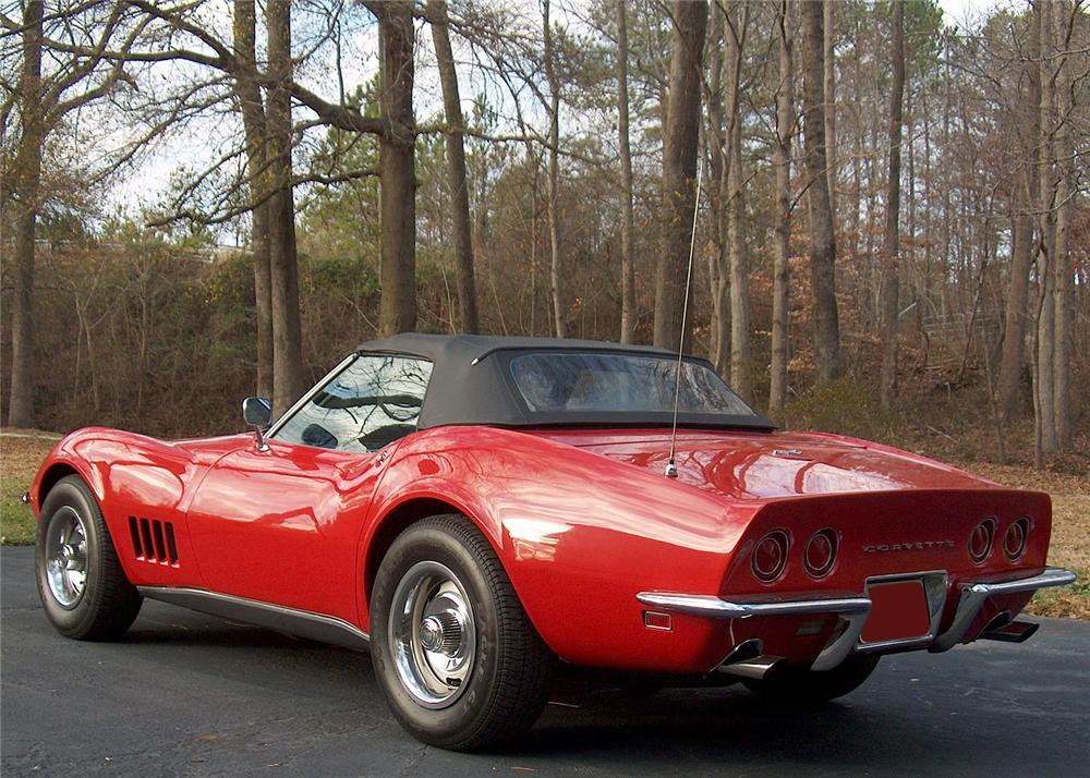 1968 CHEVROLET CORVETTE CONVERTIBLE - Rear 3/4 - 180708
