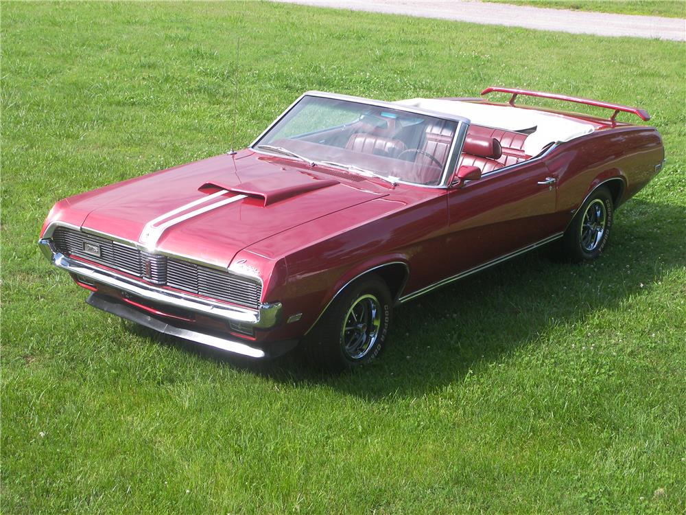 1969 MERCURY COUGAR XR7 CONVERTIBLE - Front 3/4 - 180716