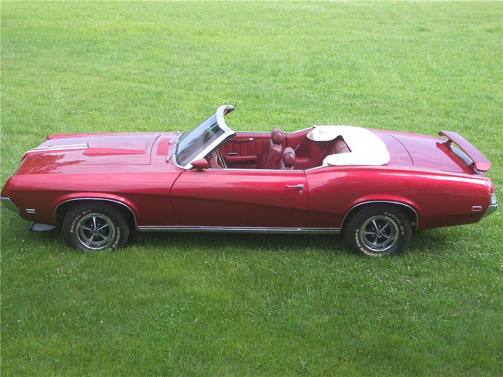 1969 MERCURY COUGAR XR7 CONVERTIBLE - Side Profile - 180716