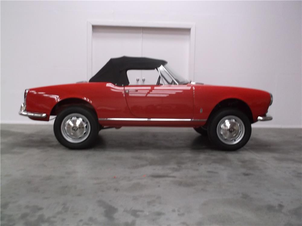 1963 ALFA ROMEO GIULIA SPIDER - Side Profile - 180723