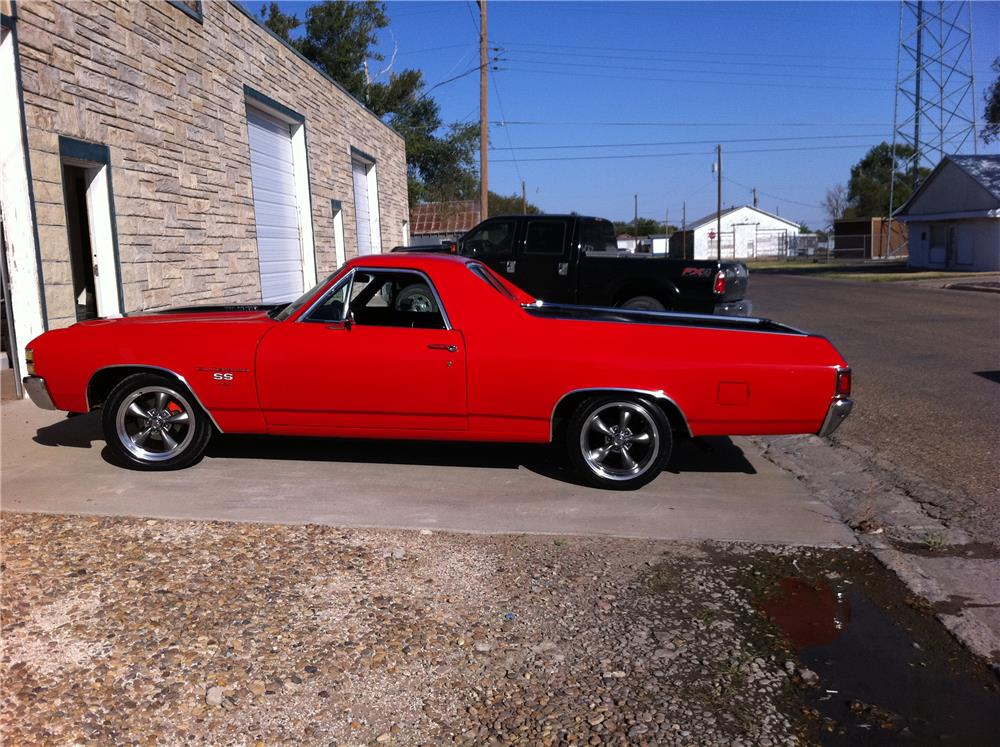 1971 CHEVROLET EL CAMINO SS PICKUP - Side Profile - 180724