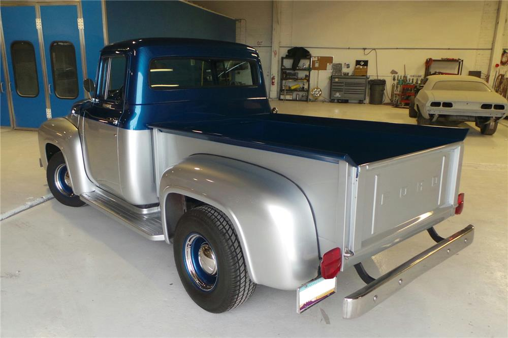 1956 FORD F-100 CUSTOM PICKUP - Rear 3/4 - 180737
