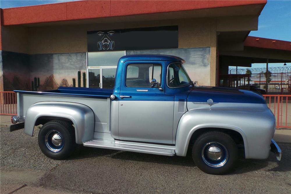 1956 FORD F-100 CUSTOM PICKUP - Side Profile - 180737