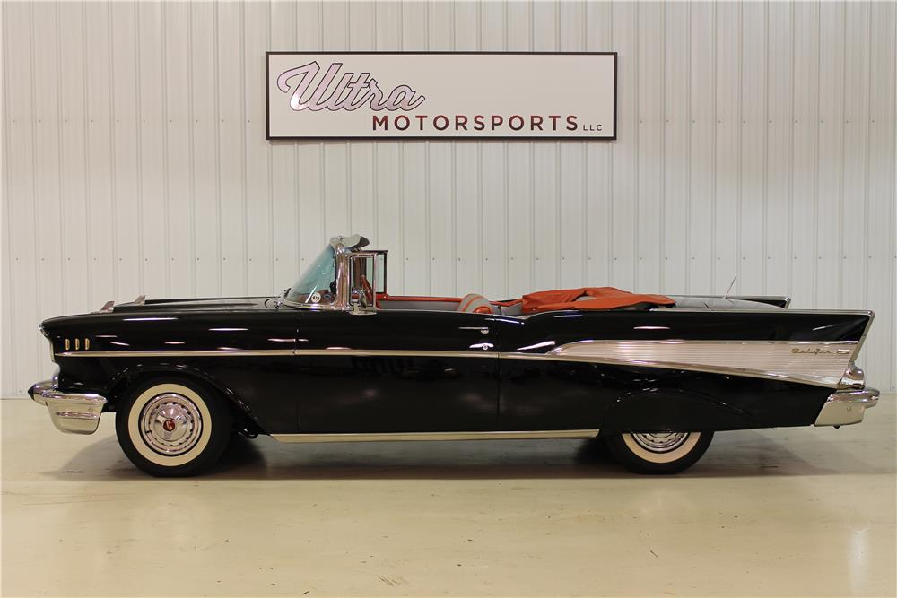 1957 CHEVROLET BEL AIR CONVERTIBLE - Side Profile - 180751