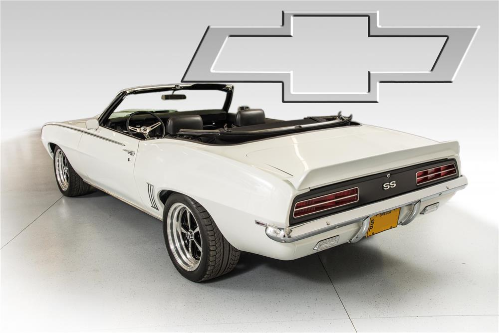 1969 CHEVROLET CAMARO CUSTOM CONVERTIBLE - Rear 3/4 - 180760