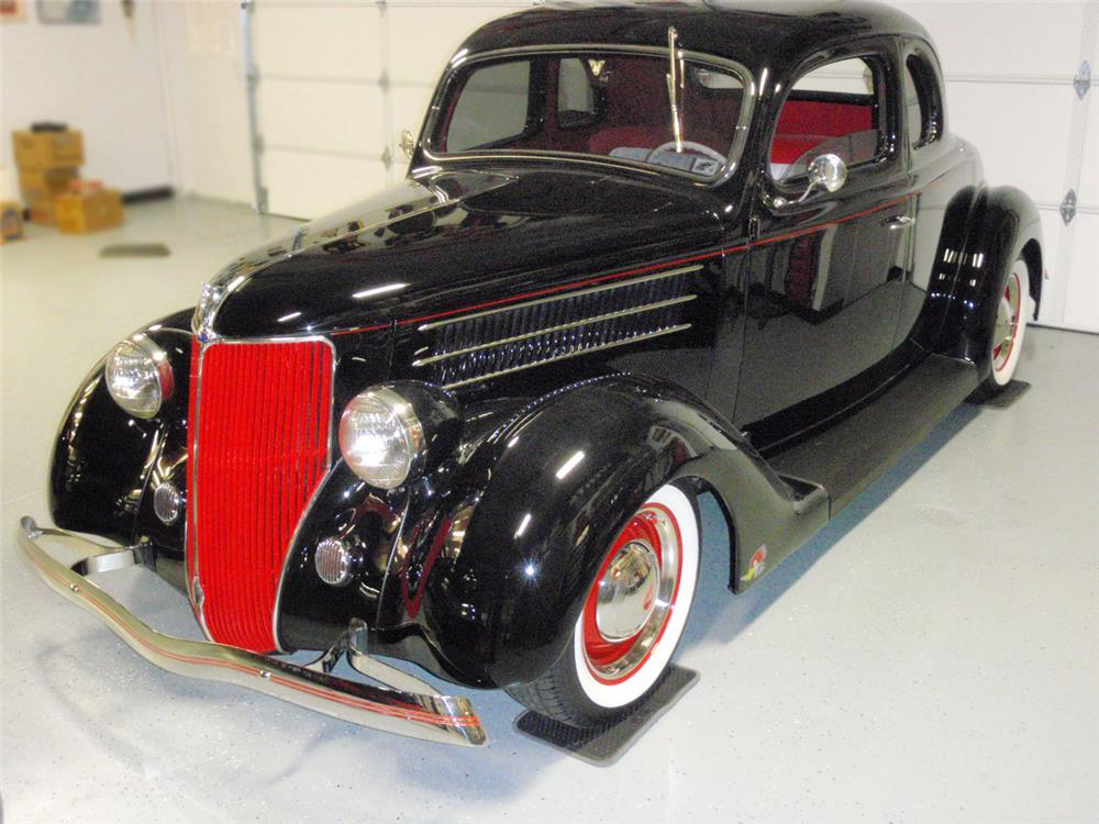 1936 FORD 5-WINDOW CUSTOM COUPE - Front 3/4 - 180823