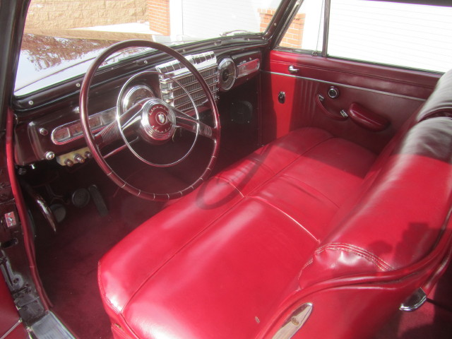 1948 LINCOLN CONTINENTAL 2 DOOR CLUB COUPE - Interior - 180829