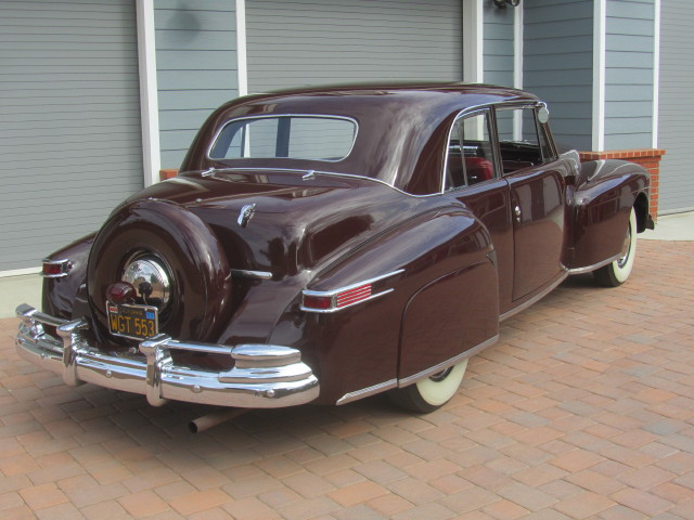 1948 LINCOLN CONTINENTAL 2 DOOR CLUB COUPE - Rear 3/4 - 180829