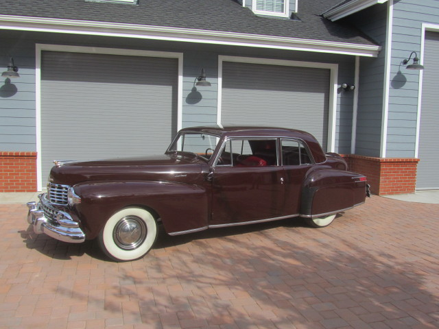 1948 LINCOLN CONTINENTAL 2 DOOR CLUB COUPE - Side Profile - 180829