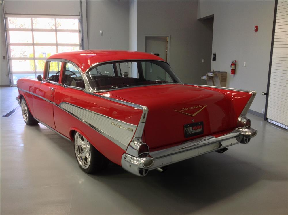1957 CHEVROLET BEL AIR CUSTOM - Rear 3/4 - 180835