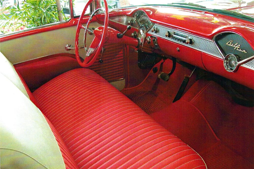1955 CHEVROLET BEL AIR CONVERTIBLE - Interior - 180837