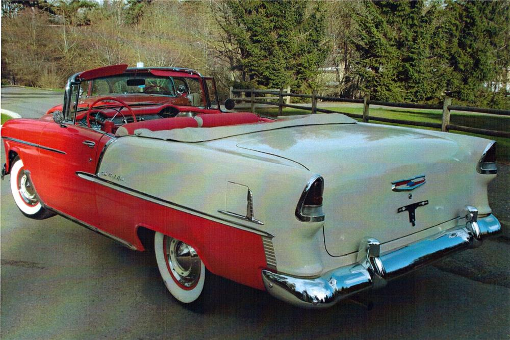 1955 CHEVROLET BEL AIR CONVERTIBLE - Rear 3/4 - 180837
