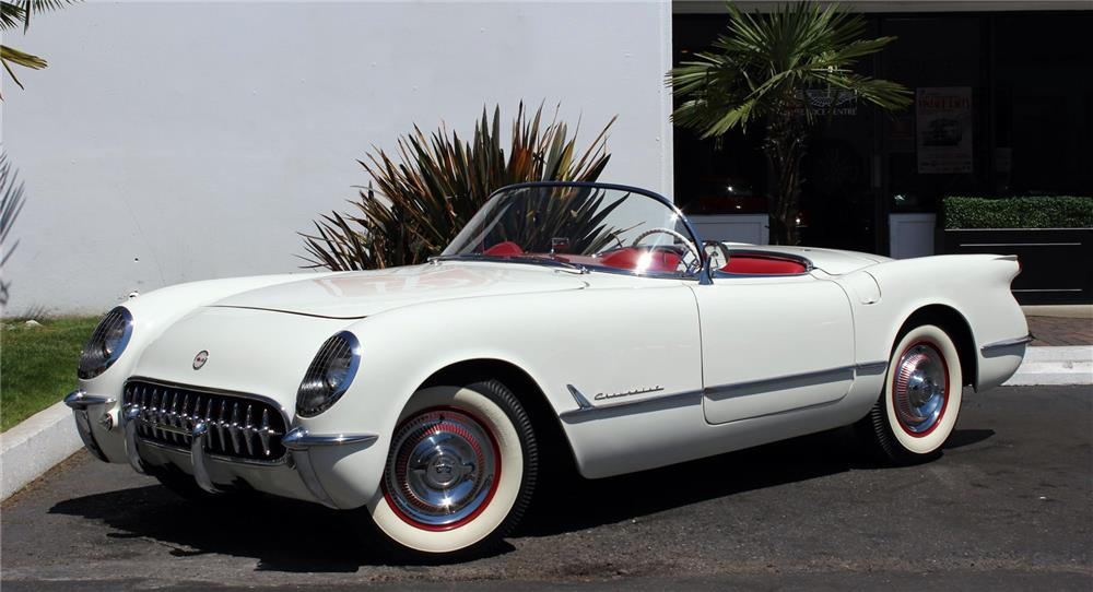 1954 CHEVROLET CORVETTE CONVERTIBLE - Front 3/4 - 180842