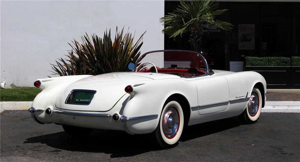 1954 CHEVROLET CORVETTE CONVERTIBLE - Rear 3/4 - 180842