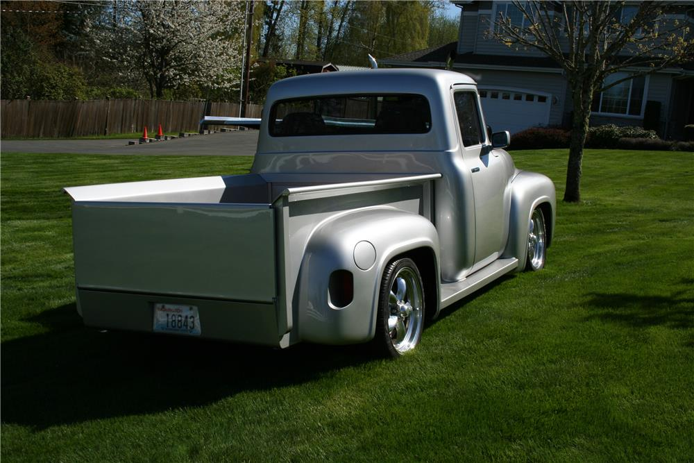 1956 FORD F-100 CUSTOM PICKUP - Rear 3/4 - 180848