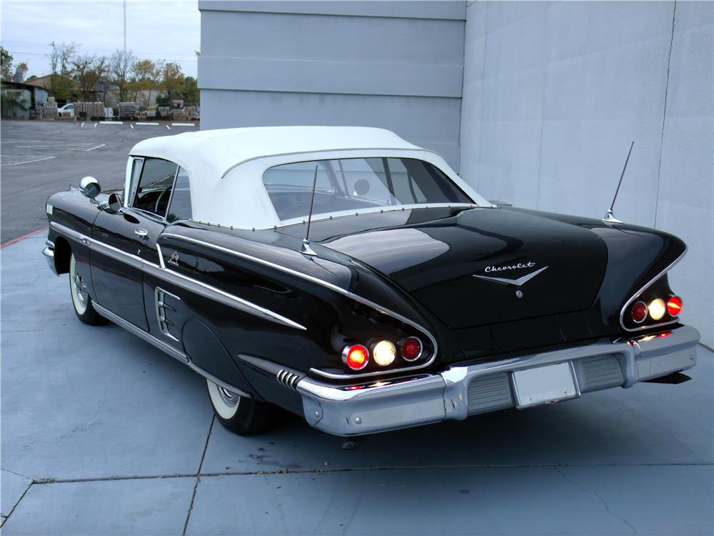1958 CHEVROLET IMPALA CONVERTIBLE - Rear 3/4 - 180853