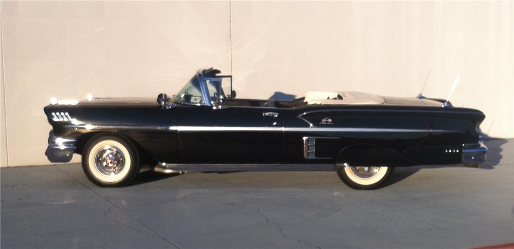 1958 CHEVROLET IMPALA CONVERTIBLE - Side Profile - 180853