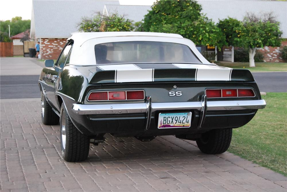 1969 CHEVROLET CAMARO SS CONVERTIBLE - Rear 3/4 - 180855