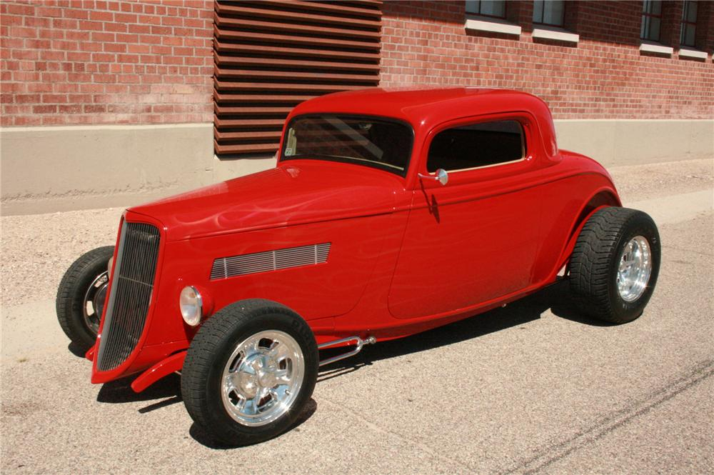 1933 FORD 3 WINDOW CUSTOM - Front 3/4 - 180857