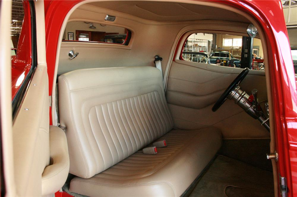 1933 FORD 3 WINDOW CUSTOM - Interior - 180857