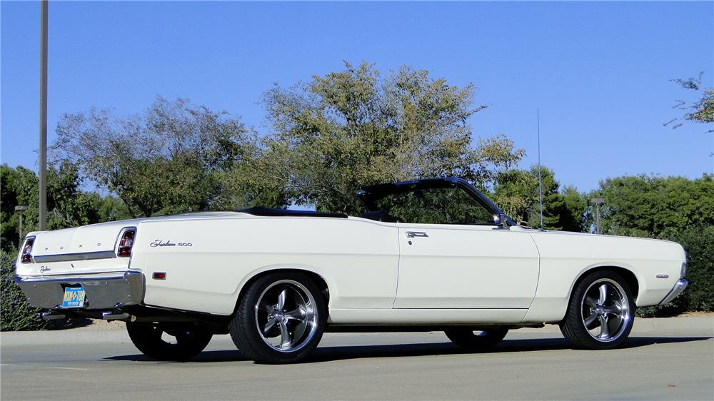 1969 FORD FAIRLANE 500 CONVERTIBLE - Rear 3/4 - 180868